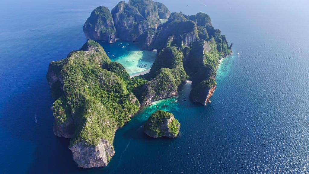 maya bay visto desde arriba